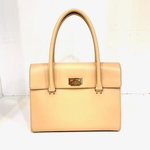 Kate Spade | Camel Foldover Leather Satchel